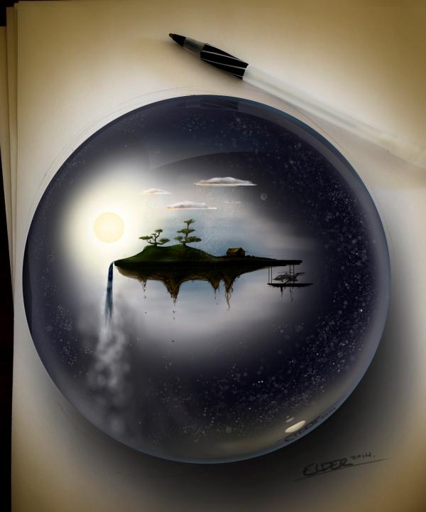 Floating island in the galaxy_Christian Elder